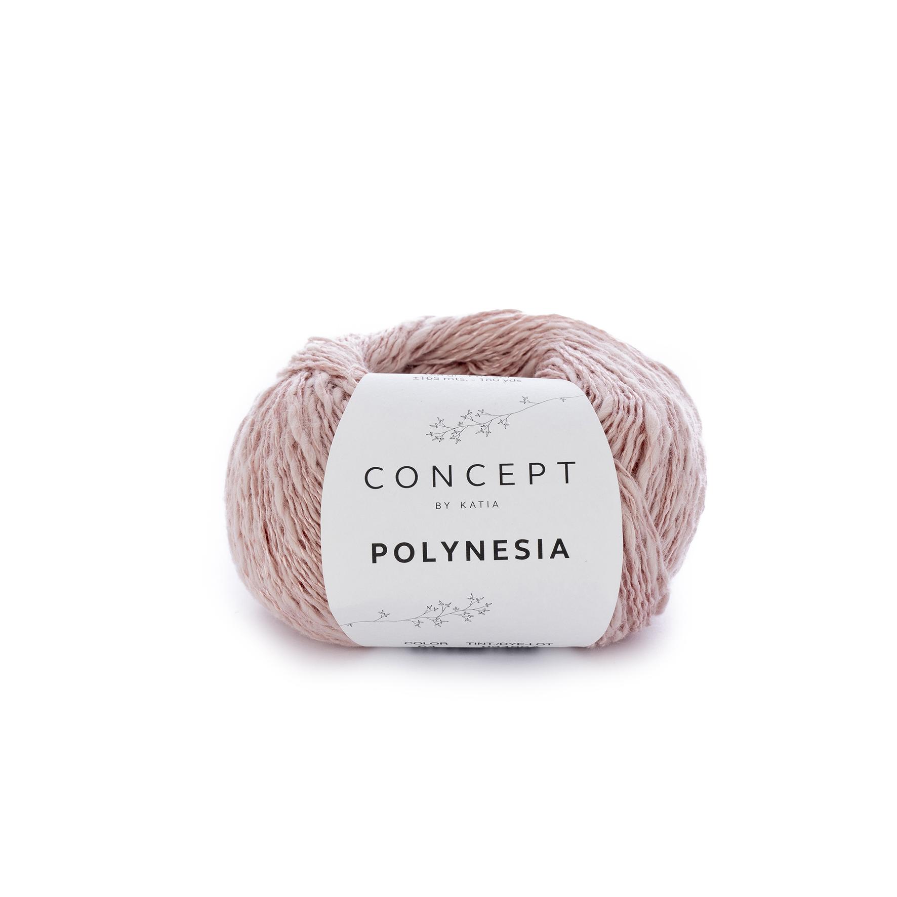 a1d24acc0 KATIA Polynesia (56% bavlna, 22% ľan, 22% viskóza) návin 50g=165m ...