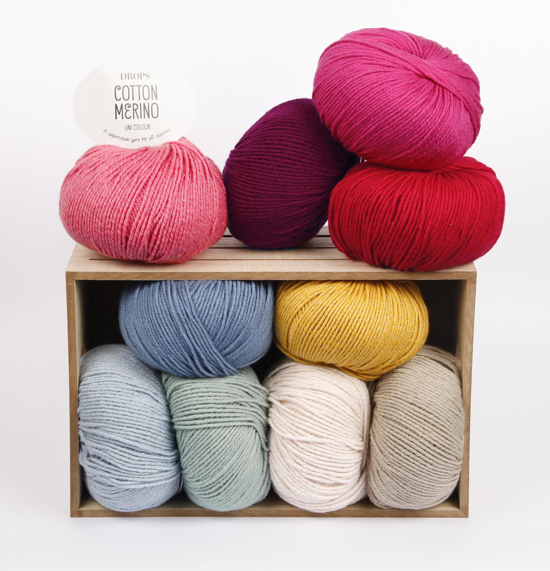 a7529646dc DROPS Cotton Merino Uni fialová - výpredaj
