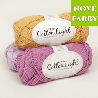 DROPS Cotton Light (50% bavlna, 50% polyester) návin 50g=105m